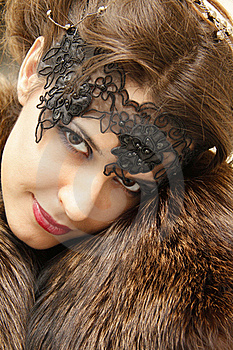 Beautiful Woman In The Fur Coat Royalty Free Stock Photography - Image: 17898097