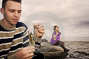 Couple With Champagne Stock Photos - Image: 17899913
