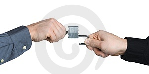 Business Men Hands Locking A Padlock Royalty Free Stock Image - Image: 1790736