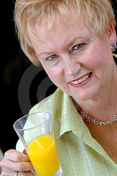 Healthy senior woman Stock Images