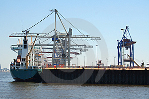 Container Shipping Industry V Royalty Free Stock Image - Image: 1794696