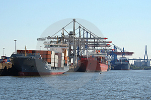 Container Shipping Industry IX Stock Image - Image: 1794711