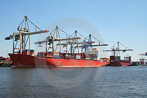 Container Shipping Industry XI Royalty Free Stock Image