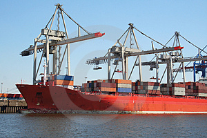 Container Shipping Industry XII Stock Image