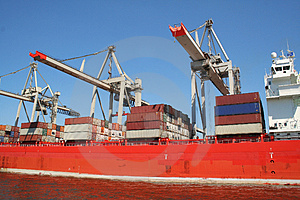 Container Shipping Industry XXII Royalty Free Stock Photos