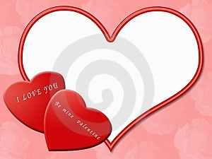 Valentine border Royalty Free Stock Images