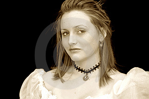 Victorian Girl Portrait Stock Photo - Image: 1795220