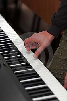 Hand Playing Piano Royalty Free Stock Images - Image: 1796839