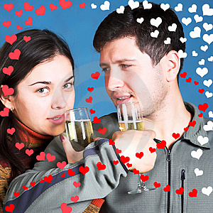Young People With Champagne Glasses Royalty Free Stock Image - Image: 1797466