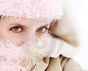 Cold Young Woman Bundled Up Royalty Free Stock Images - Image: 17901199