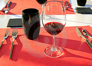 Glass With Red Wine Stock Photos - Image: 17901543