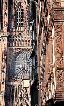 Fragment Of Cathedral In Strasbourg Royalty Free Stock Images - Image: 17901629