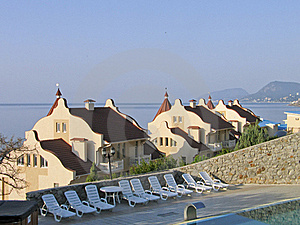 Mansions With Tiled Roof At Black Sea Shore Royalty Free Stock Photos - Image: 17902658