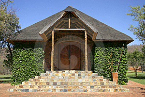 Stone Chapel With Thatch Roof Stock Image - Image: 17903091