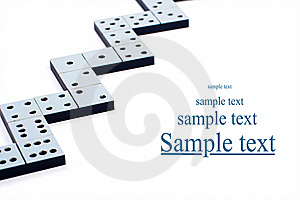 Domino Pieces In A Line Or Zigzag Stock Photo - Image: 17906690