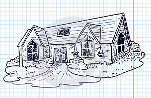 Doodle House Royalty Free Stock Image - Image: 17909616