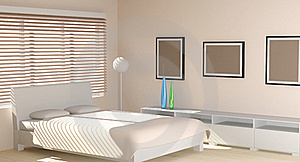 Modern Interior In Light Tones Stock Image - Image: 17910951
