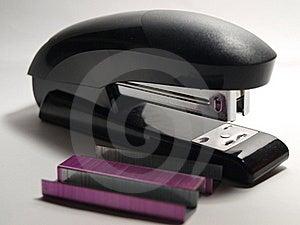 Black Stapler And Staples Stock Image - Image: 17911421