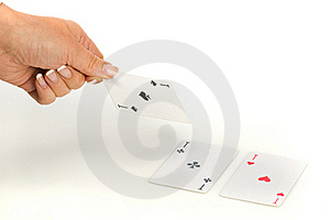 Ace Of Spades In Hand Royalty Free Stock Photos - Image: 17911468