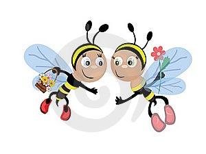 Bees CMYK Royalty Free Stock Photos - Image: 17912798