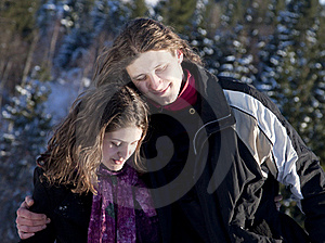 Happy Young Couple Outdoors Stock Image - Image: 17913471