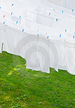 White Washes On The Line Stock Photos - Image: 17914473