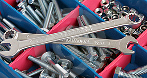 Spanners, Bolts And Nuts Royalty Free Stock Images - Image: 17914829
