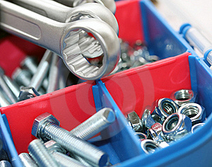 Spanners, Bolts And Nuts Stock Photos - Image: 17914883