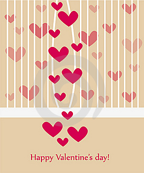 Beautiful Valentine Greeting Card Wiht Hearts Royalty Free Stock Photography - Image: 17915357