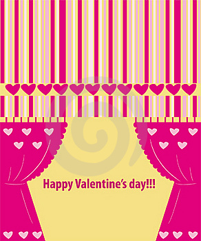 Valentine Greeting Card Wiht Hearts Royalty Free Stock Images - Image: 17915419