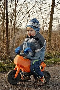Little Boy Riding Motorbike Royalty Free Stock Images - Image: 17915449