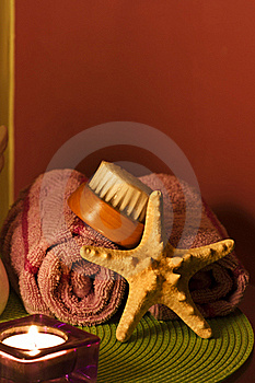 Bath Towels Spa Decoration Royalty Free Stock Image - Image: 17915806