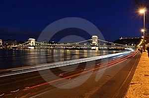 Budapest Chain Bridge By Night Royalty Free Stock Photos - Image: 17916148