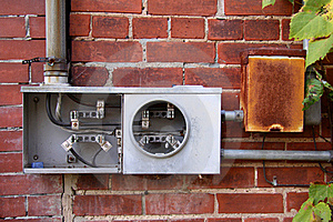 Broken Electric Meter Royalty Free Stock Photos - Image: 17916338