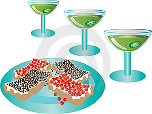 Cocktails And Sandwiches. Stock Images - Image: 17918284