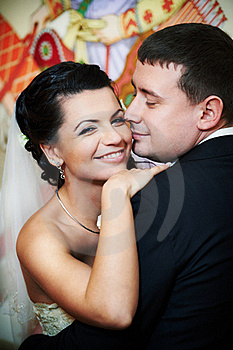Happy Bride And Groom Royalty Free Stock Image - Image: 17920326