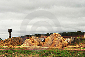 Farm, The Stock Of Straw Royalty Free Stock Photography - Image: 17920507