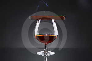 Glass Of Cognac Stock Photo - Image: 17920720