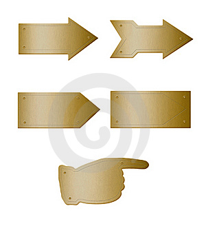 Brass Plate Arrows Stock Photo - Image: 17920810