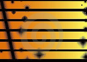 Landscape Orange Graphic Strips Stock Photos - Image: 17932003