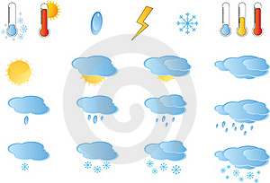 Set Of Weather Icos Stock Photography - Image: 17932662
