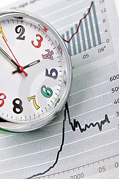 Time And Business Chart Royalty Free Stock Photo - Image: 17934205