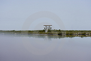 Observation  Tower Reflecting In Water Stock Images - Image: 17934844