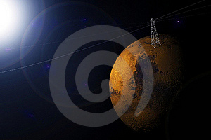 Planet Mars Royalty Free Stock Image - Image: 17936086