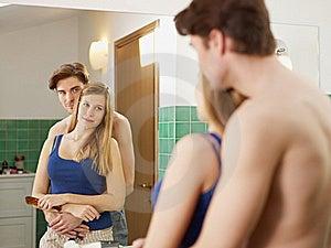 Young Heterosexual Couple In Bathroom Stock Images - Image: 17936094