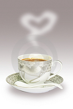 A Cup Of Coffee To You With Love Royalty Free Stock Image - Image: 17936686