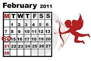 February Calendar Royalty Free Stock Photos - Image: 17938688