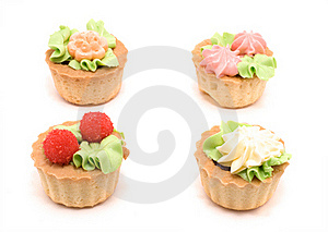 Four Little Cakes Royalty Free Stock Photography - Image: 17947007