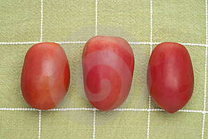 Trio Of Roma Tomatoes Royalty Free Stock Images - Image: 17947219