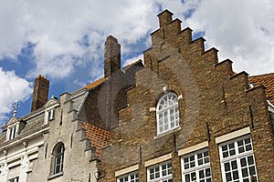 Flemish Houses Facades In Brugge. Royalty Free Stock Image - Image: 17947246